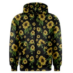 Sunflowers Pattern Men s Zipper Hoodie