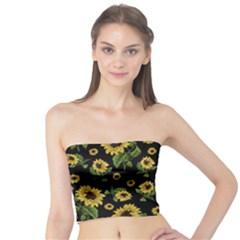 Sunflowers Pattern Tube Top