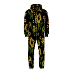 Sunflowers Pattern Hooded Jumpsuit (kids)