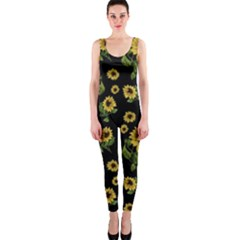 Sunflowers Pattern Onepiece Catsuit