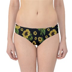 Sunflowers Pattern Hipster Bikini Bottoms