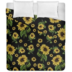 Sunflowers Pattern Duvet Cover Double Side (california King Size)
