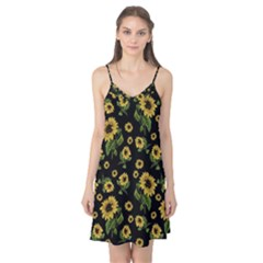 Sunflowers Pattern Camis Nightgown