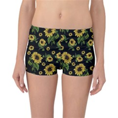 Sunflowers Pattern Reversible Boyleg Bikini Bottoms