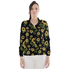Sunflowers Pattern Wind Breaker (women)