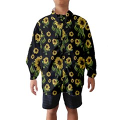Sunflowers Pattern Wind Breaker (kids)