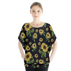 Sunflowers Pattern Blouse