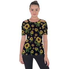 Sunflowers Pattern Short Sleeve Top