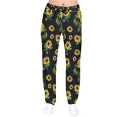 Sunflowers Pattern Drawstring Pants