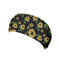 Sunflowers Pattern Yoga Headband