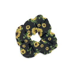 Sunflowers Pattern Velvet Scrunchie