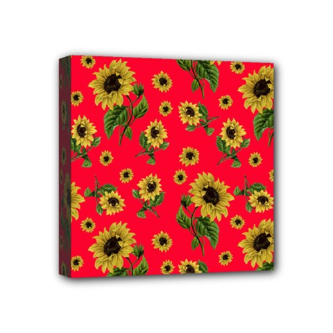 Sunflowers Pattern Mini Canvas 4  X 4