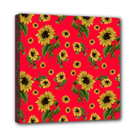 Sunflowers Pattern Mini Canvas 8  X 8