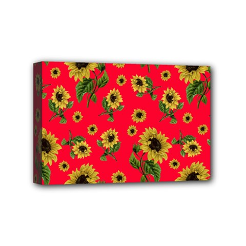 Sunflowers Pattern Mini Canvas 6  X 4