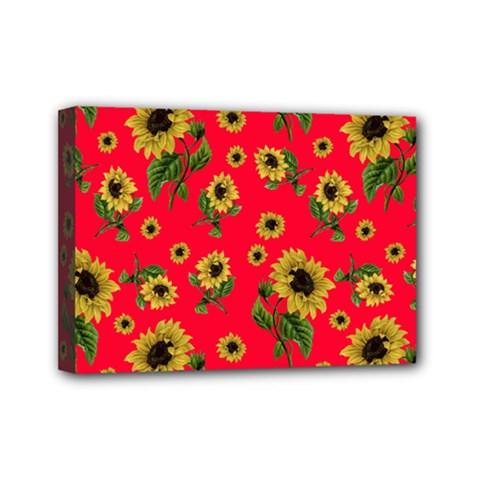 Sunflowers Pattern Mini Canvas 7  X 5