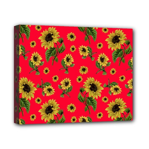 Sunflowers Pattern Canvas 10  X 8