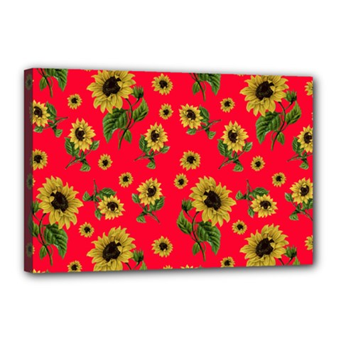 Sunflowers Pattern Canvas 18  X 12