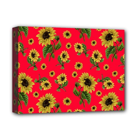 Sunflowers Pattern Deluxe Canvas 16  X 12