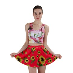 Sunflowers Pattern Mini Skirt