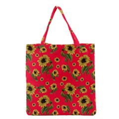 Sunflowers Pattern Grocery Tote Bag