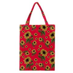 Sunflowers Pattern Classic Tote Bag