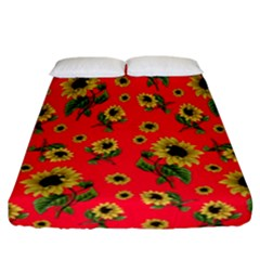 Sunflowers Pattern Fitted Sheet (california King Size)