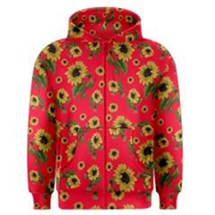 Sunflowers Pattern Men s Zipper Hoodie