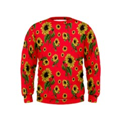 Sunflowers Pattern Kids  Sweatshirt