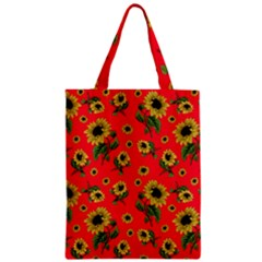 Sunflowers Pattern Zipper Classic Tote Bag