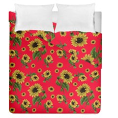 Sunflowers Pattern Duvet Cover Double Side (queen Size)