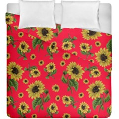 Sunflowers Pattern Duvet Cover Double Side (king Size)