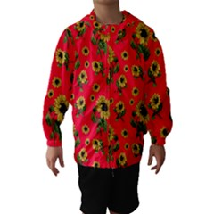 Sunflowers Pattern Hooded Wind Breaker (kids)