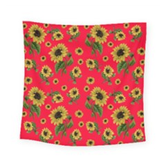 Sunflowers Pattern Square Tapestry (small)