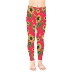 Sunflowers Pattern Kids  Legging