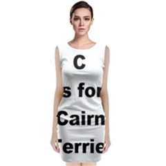 C Is For Cairn Terrier Classic Sleeveless Midi Dress