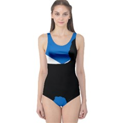 Cairn Terrier Silhouette Scotland Flag One Piece Swimsuit