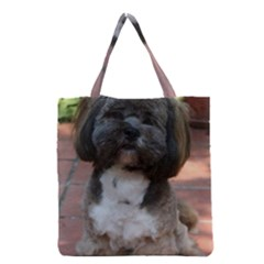 Lhasa Apso Shaved Grocery Tote Bag