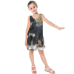 2 Poodles Full Kids  Sleeveless Dress