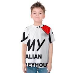 Italian Greyhound Love Kids  Cotton Tee