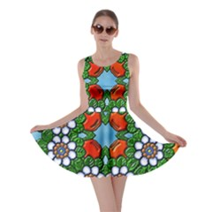 Cute Floral Mandala  Skater Dress