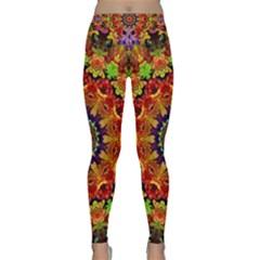 Fractal Mandala Abstract Pattern Classic Yoga Leggings