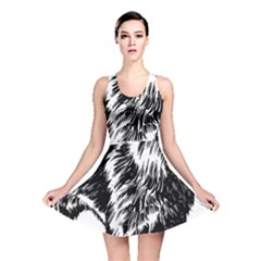 Chow Chow Drawing Reversible Skater Dress