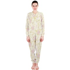 Floral Paper Pink Girly Pattern Onepiece Jumpsuit (ladies)