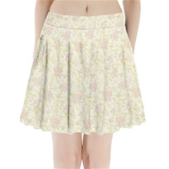 Floral Paper Pink Girly Pattern Pleated Mini Skirt