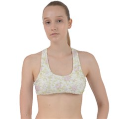 Floral Paper Pink Girly Pattern Criss Cross Racerback Sports Bra