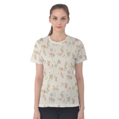 Floral Paper Pink Girly Cute Pattern  Women s Cotton Tee