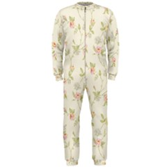 Floral Paper Pink Girly Cute Pattern  Onepiece Jumpsuit (men)