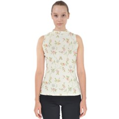 Floral Paper Pink Girly Cute Pattern  Shell Top