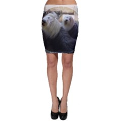 2 Old English Sheepdogs Bodycon Skirt