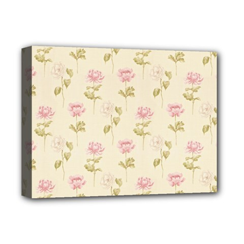 Floral Paper Illustration Girly Pink Pattern Deluxe Canvas 16  X 12